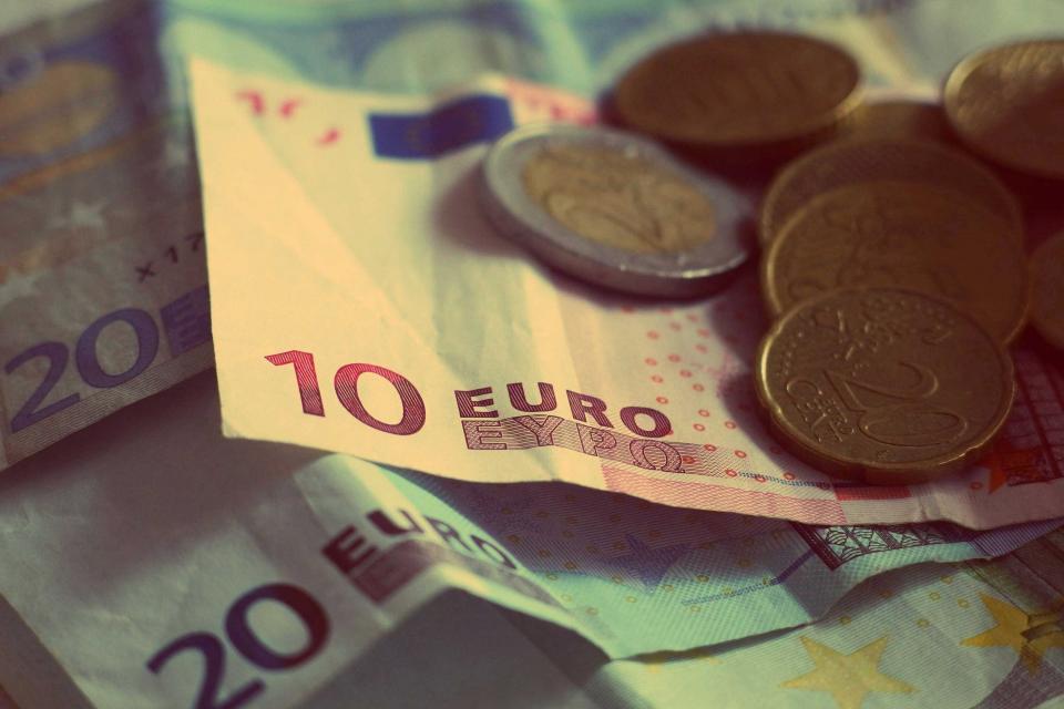 Različni evro bankovci
