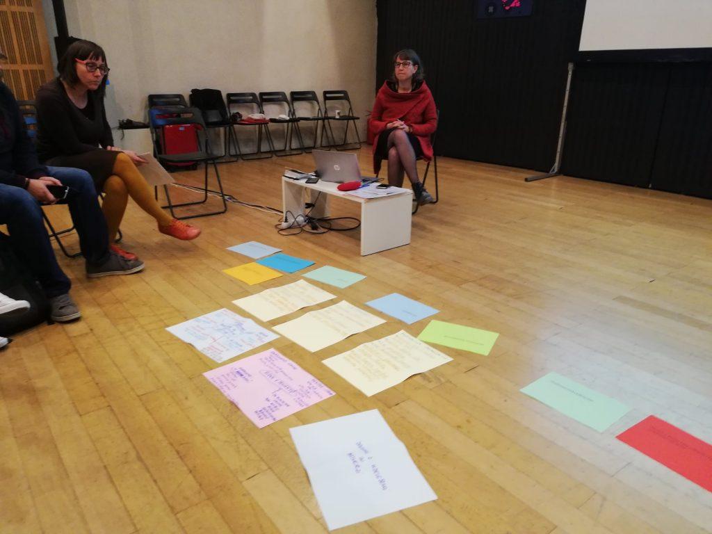 Udeleženci s pomočjo barvnih lističev spoznavanja ESE