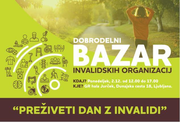 Vabljeni na Dobrodelni bazar invalidskih organizacij