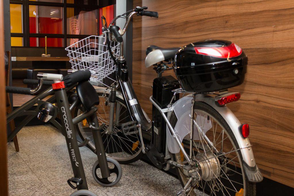 Električno kolo in hojica