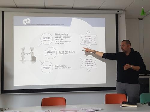 Predstavitev možnih oblik zaposlitev po zaključku zaposlitvene rehabilitacije