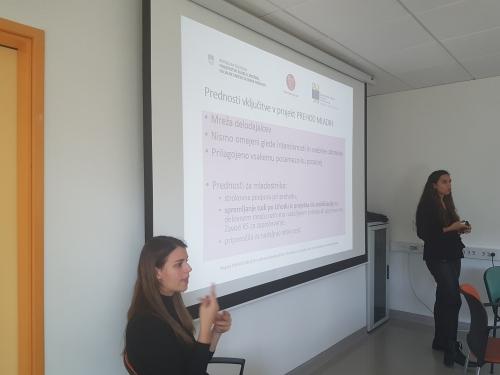 Predstavitev prednosti vključitve v projekt Prehod mladih