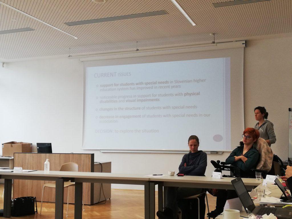 Pri projektu EUTOPIA smo predstavljali naše društvo, izkušnje študentov in naše sodelovanje z UL