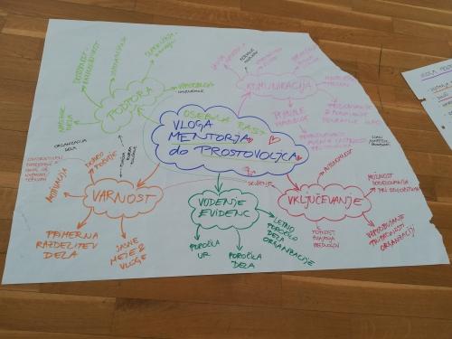 Velik list z opisom vloge mentorja do prostovoljca