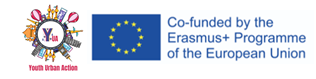 Logotip projekta in logotipe Erasmus+ programa