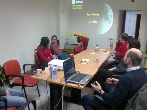 Obisk dr. Igorja Žiberne, ki je predaval o planetu Luna