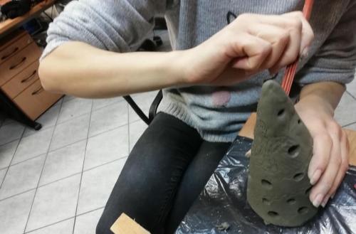 Izdelovanje novoletnih okraskov iz gline