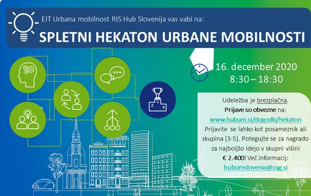 Vabljeni na spletni hekatlon urbane mobilnosti